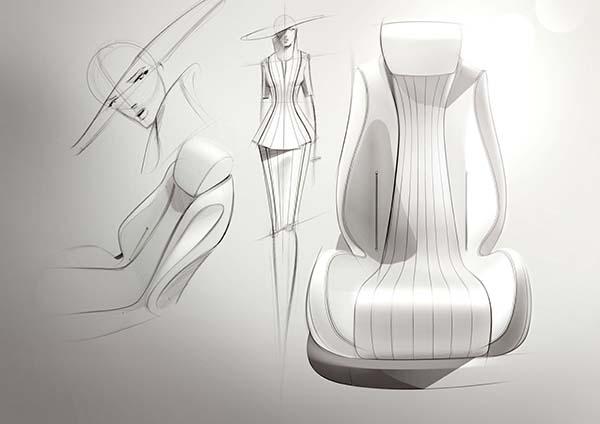 E-Klasse DesigskizzeE-Class design sketch