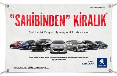 Peugeot'dan yeni bir hizmet: Peugeot Araç Kiralama