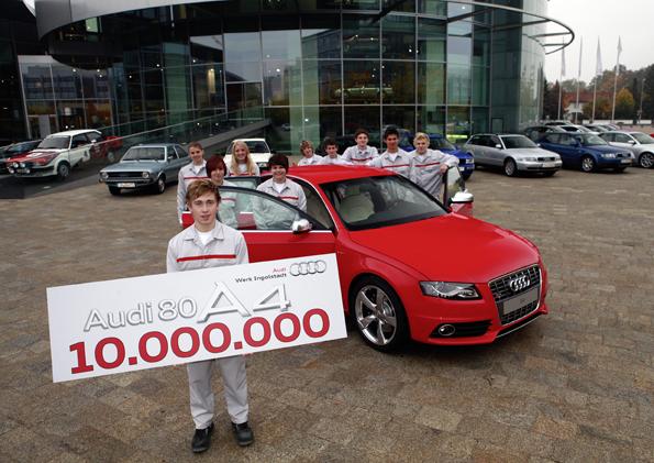 Audi'den 10 milyonuncu orta sınıf otomobil