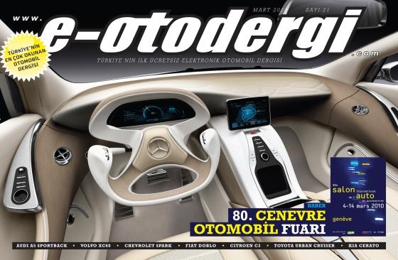 e-otodergi Mart 2010 sayısı yayına girdi