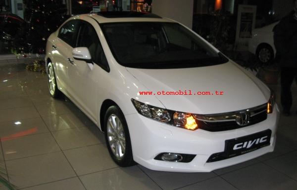 Yeni 2012 Honda Civic Sedan Bayilerdefiyatteknik özellikler