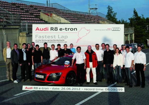 Audi R8 e-tron'dan Nürburgring rekoru