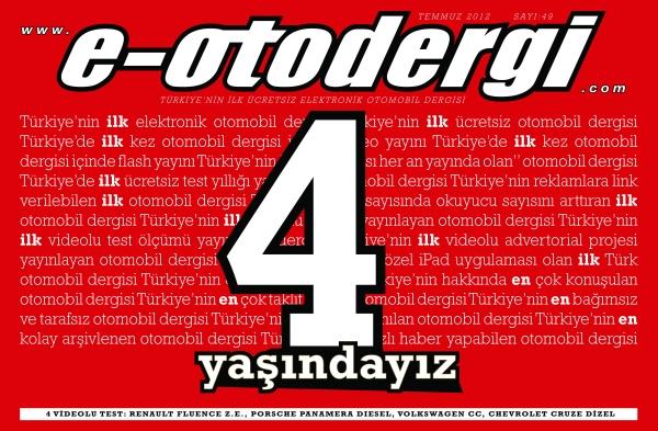e-otodergi 4. yaş özel sayısı yayında!