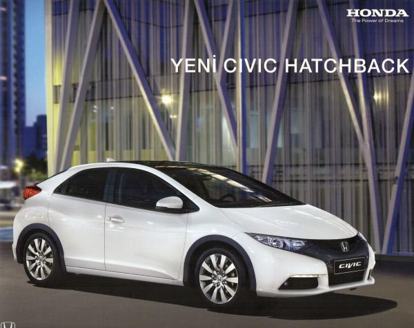 Yeni 2013 Honda Civic Dizel Fiyatları Teknik