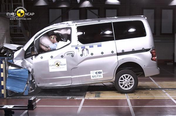Nissan Evalia 2013 Euro NCAP / video