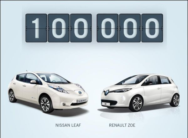 Renault-Nissan 100 bininci elektrikli aracı sattı