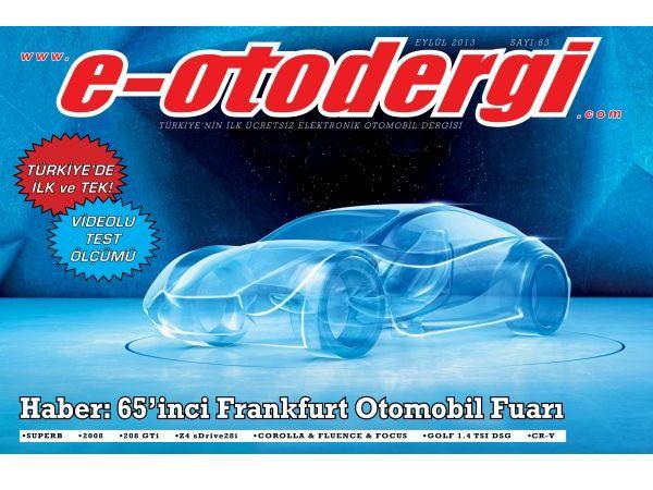 e-otodergi Eylül 2013 sayısı yayına girdi