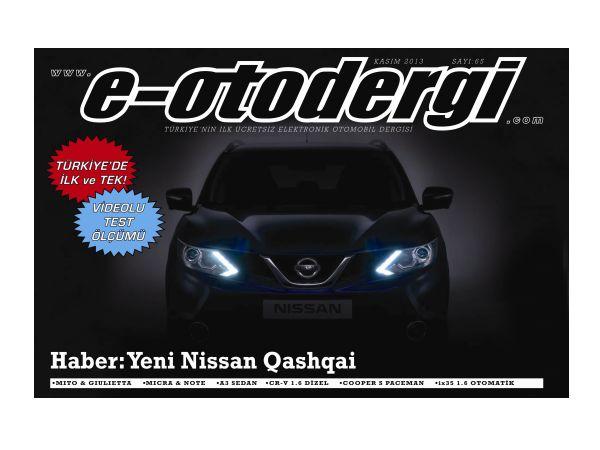 e-otodergi Kasım 2013 sayısı yayına girdi