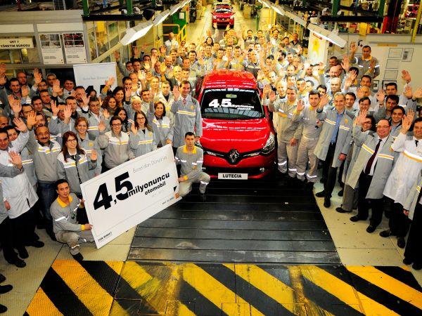 Oyak Renault 4.5 milyonuncu otomobili üretti