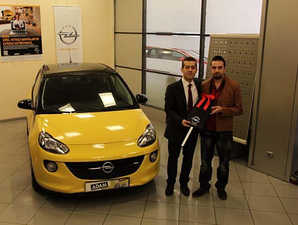 MyOpel çekilişi Seçkin Duvan'a Opel Adam kazandırdı