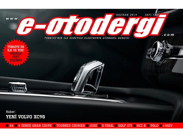 e-otodergi Haziran 2014 sayısı yayına girdi