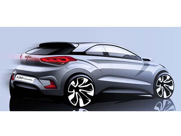 Yeni Hyundai i20 Coupe çizimi basına dağıtıldı