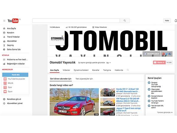 Otomobil Yayıncılık YouTube